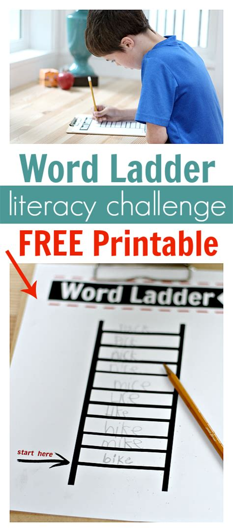 by age no time for flash cards after school activity word ladders printable free
