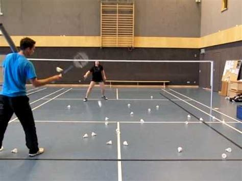 tutorial badminton youtube badminton training badminton ballmaschine doppel netz