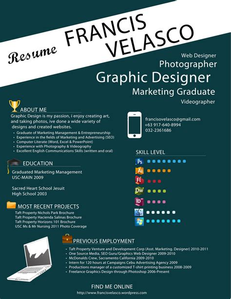 Resume Graphic Designer Australia eh skill level section is kinda cool cv