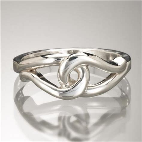 entwined paisley ring argentium silver
