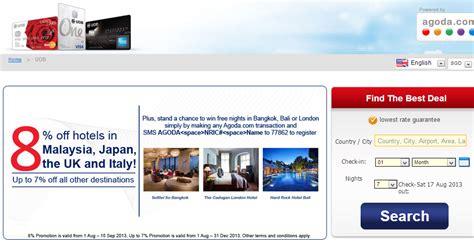 Agoda Uob | alice travelogue promotion by uob credit card and agoda com