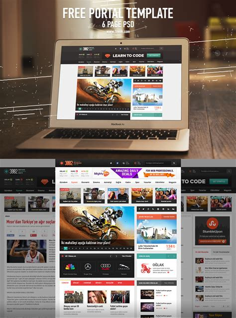 news portal website template free psd download download psd web portal template pages psd freebie download download psd