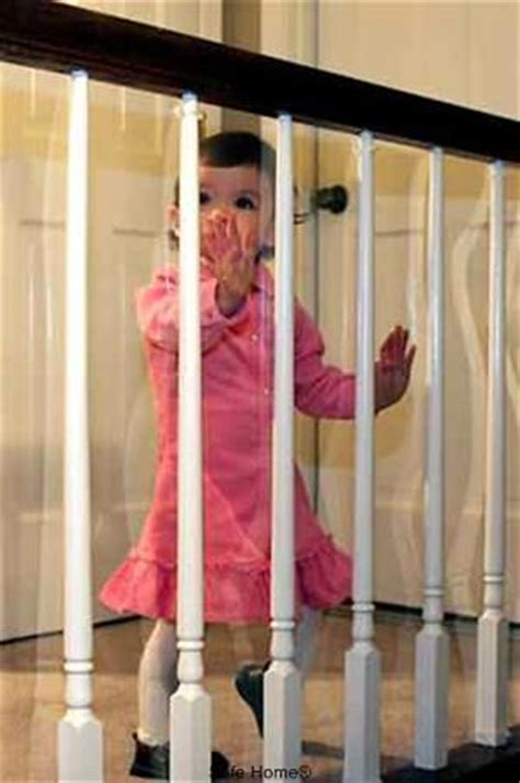 Kid Safe Banister Guard by Banister Guard Kid Shield Clear Shatterproof Plastic