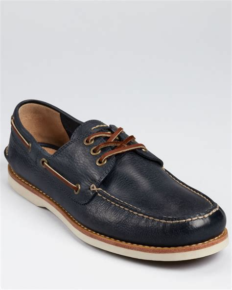 frye boat shoes review frye sully boat shoes in blue for men navy lyst