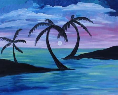 paint nite pittsburgh palm tree at mt lebanon pub and pizza paint nite