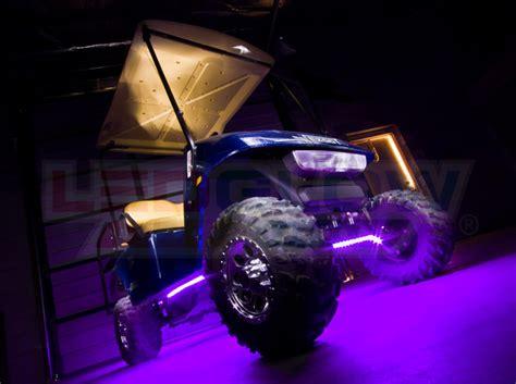 golf cart underbody lights ledglow purple led golf cart underbody lights