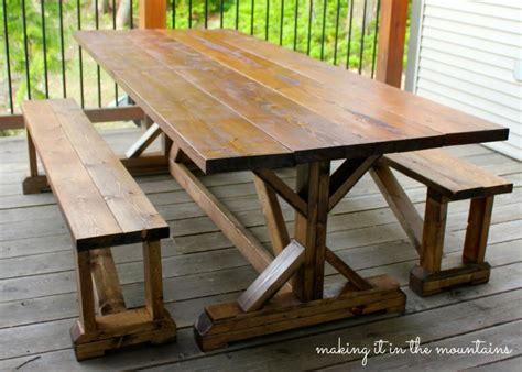 A Farm Table by 10 Diy Outdoor Farmhouse Tables Seeking Lavendar