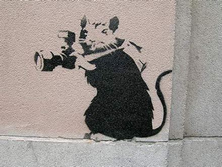 banksys graffiti  rats vostok zapad