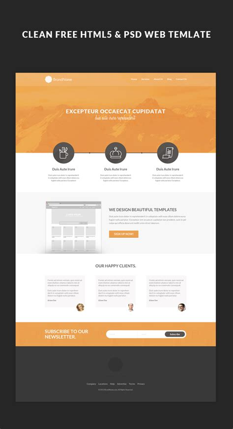 tutorial web design html5 free html5 web template tutorial on behance