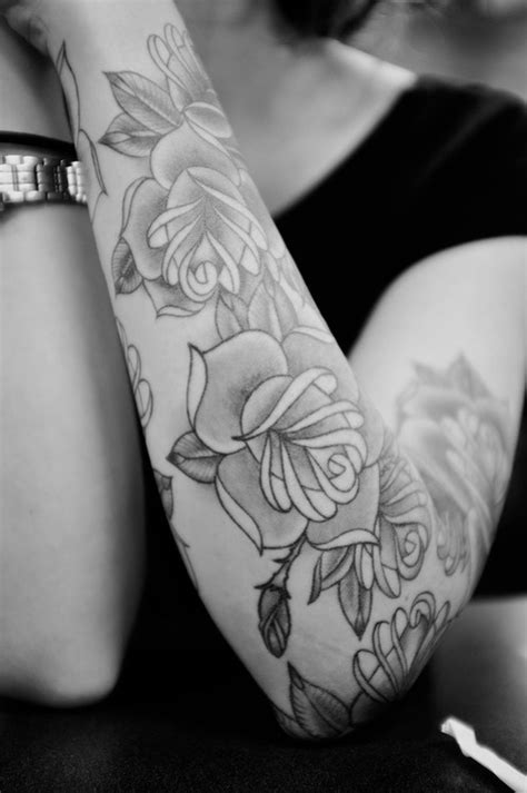 pictures of black and white rose tattoos arm sleeve tattoos fashion and lifestyles
