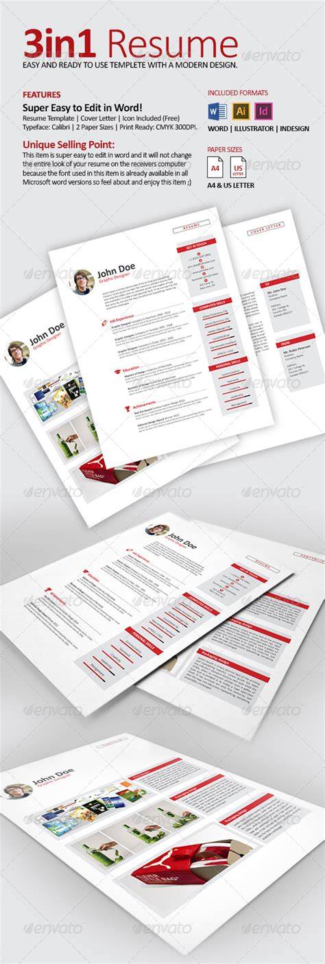 resume cv with word files graphicriver