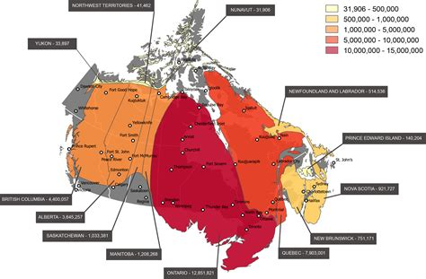 map of south canada canada mapped by population immigroup we are
