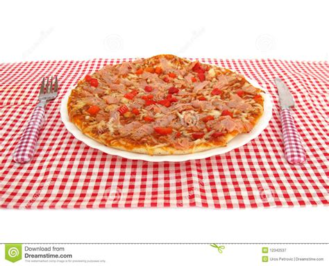 free table pizza pizza on table royalty free stock photography image
