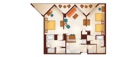 2 bedroom villa floor plans aulani two bedroom villa milesgeek
