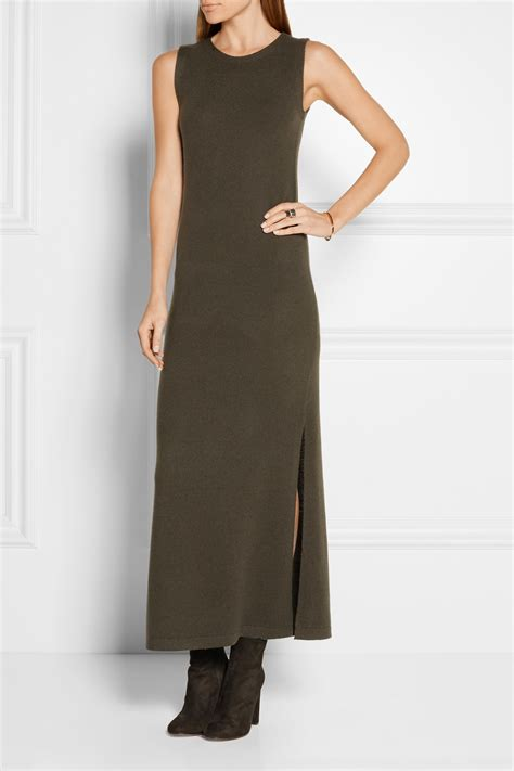 Dress Army Maxi theory maxi dress army green in green lyst