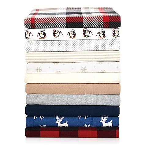 flannel sheets bed bath and beyond the seasons collection 174 heavyweight flannel sheet set