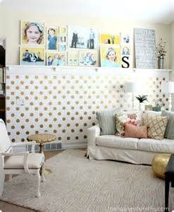 gold accent wall a gold polka dot accent wall