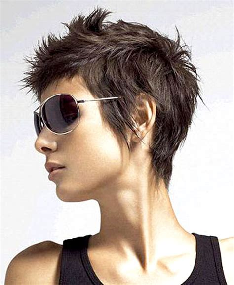 women over 50 funky hair color short funky and spiky hairstyles for women with straight