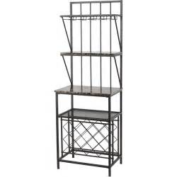 Marble Bakers Rack Faux Marble Shelf Baker S Rack With Wine Bottle Storage