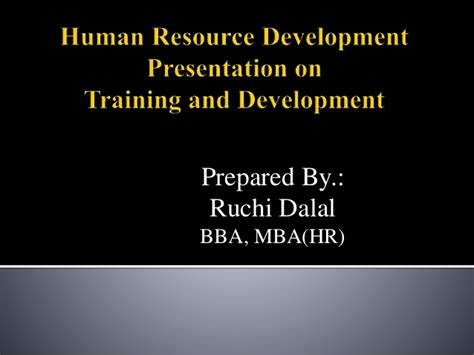 Mba Hr Certifications by And Development Process