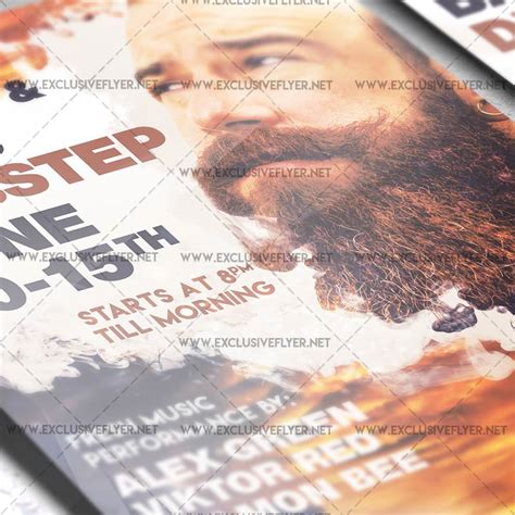 music event premium a5 flyer template exclsiveflyer