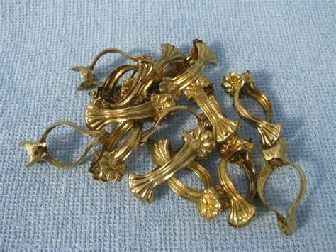 cafe curtain clip rings lot vintage cafe curtain hooks ornate brass clip rings