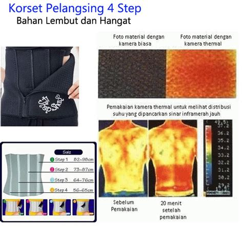 4 Step Shape Slimming Belt Korset Pelangsing Fcg040 Murah 4 step shape slimming belt korset pelangsing richelle