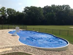 Small Sloped Backyard Above Ground Pool Madisonville Hopkinsville Pool Service
