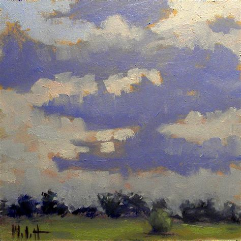 heidi malott original paintings impressionist clouds