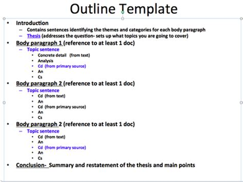 draft outline template implementation daniel tinelli a digital portfolio