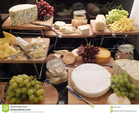types of for buffet buffet with pieces of various types of cheese stock photo image 60591956