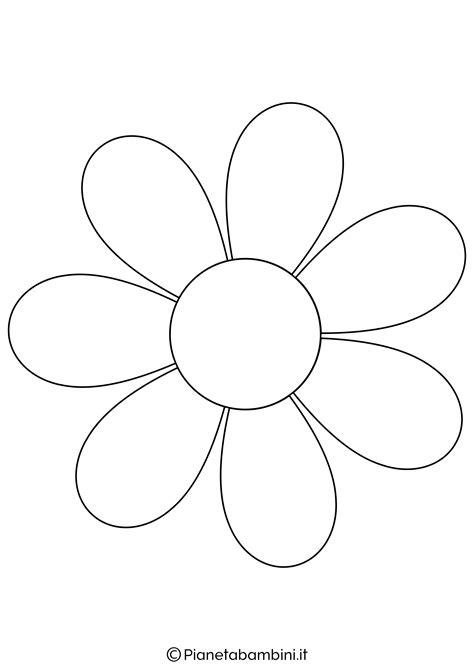 disegni di fiori da colorare e ritagliare sagoma margherita da ritagliare