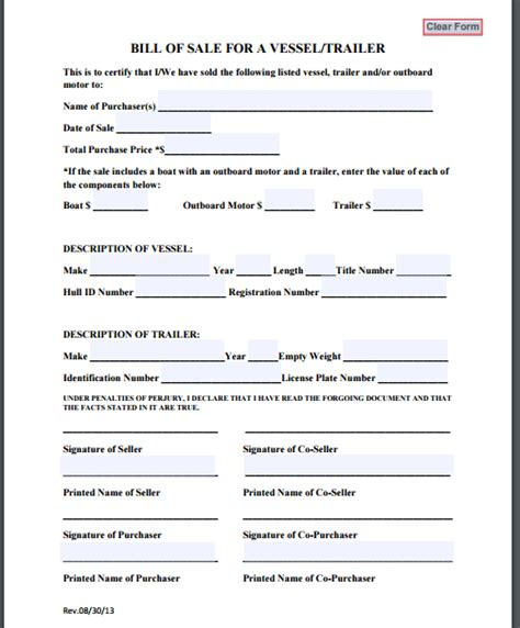 rv and boat sales 4 trailer bill of sale templates formats exles in