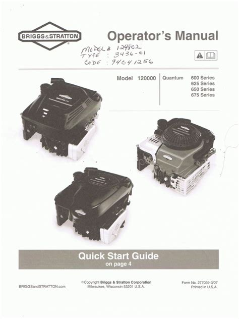 motor manuals briggs stratton engine manual