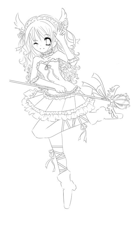 anime magical girl coloring pages magical girl lineart by featheredwings on deviantart