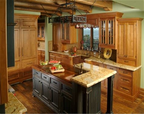kitchen island with raised seating area countertops that pop dig this design
