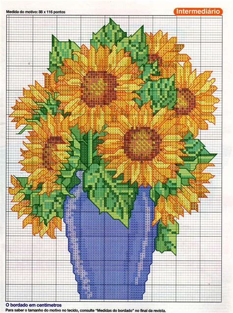 vaso di girasoli vaso di girasoli bordado punto punto de