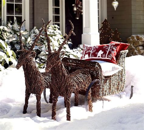 reindeer sleigh lawn decorations for christmas 10 decorating ideas for your front porch freshome