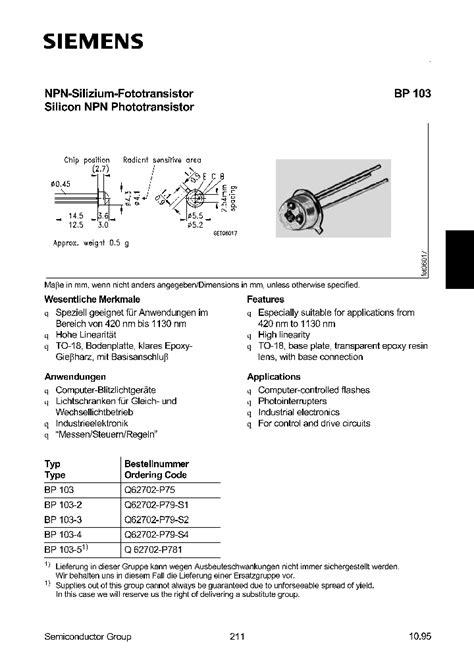 transistor tpb bp103 1026576 pdf datasheet ic on line