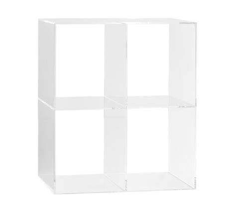 acrylic bookcase pottery barn