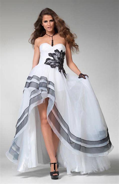 White And Black Dress white prom dresses dressed up