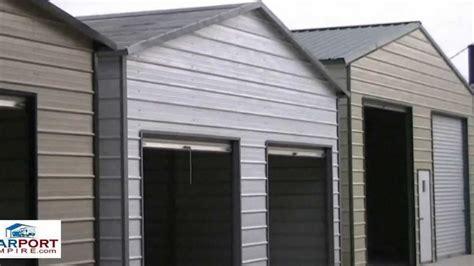 Garage Vs Carport Carports 18 Vs 20 And Larger Steel Carport And Garage