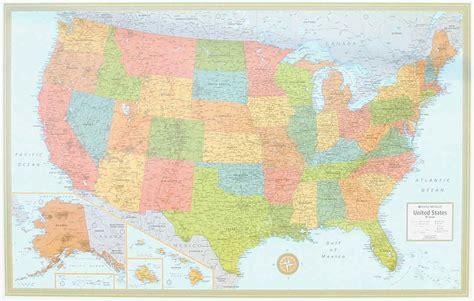 map usa rand mcnally themapstore rand mcnally usa wall map blue
