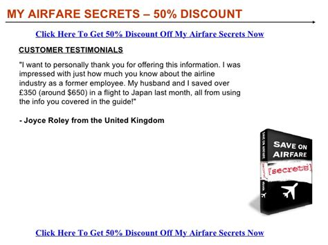my airfare secrets discount