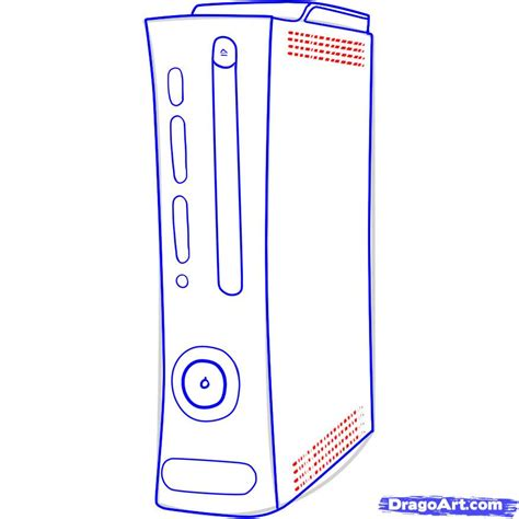 Drawing Xbox by How To Draw An Xbox Draw An Xbox 360 Step By Step