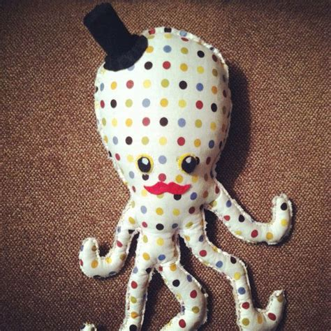 Handmade Stuffed Toys - handmade octopus stuffed animal soft cloth material