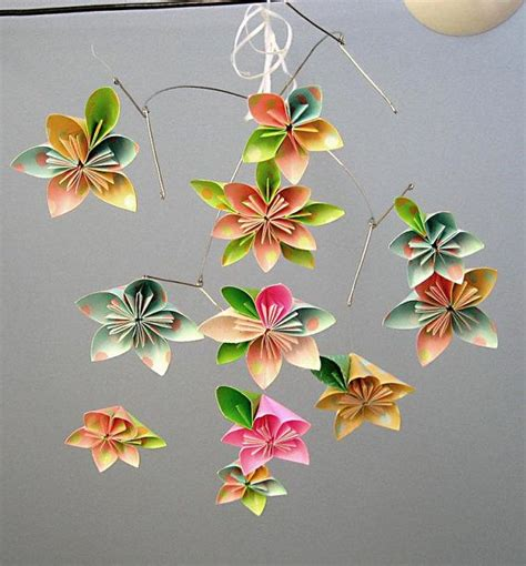 Hanging Origami Flowers - 1000 images about origami mobiles ideas on