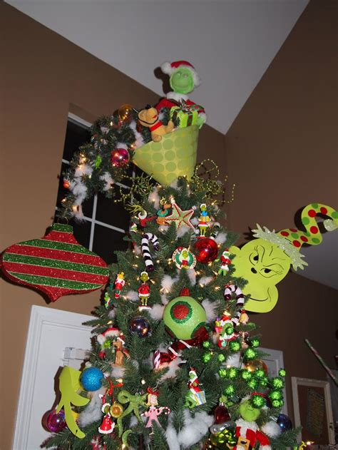 grinch christmas tree topper upside down lshade with one of the small outdoor pathway