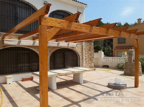 Awnings And Pergolas by Wooden Pergolas Vista Awnings And Blinds