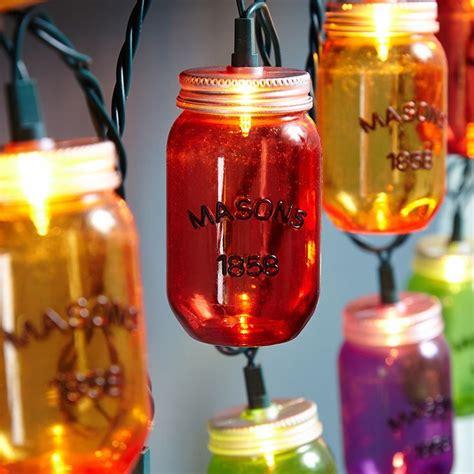 colorful jar outdoor string lights